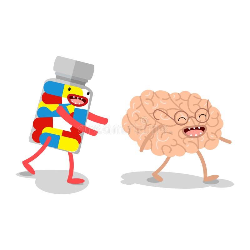 wektor Kreskówka ludzcy organy, który biega medycynę royalty ilustracja