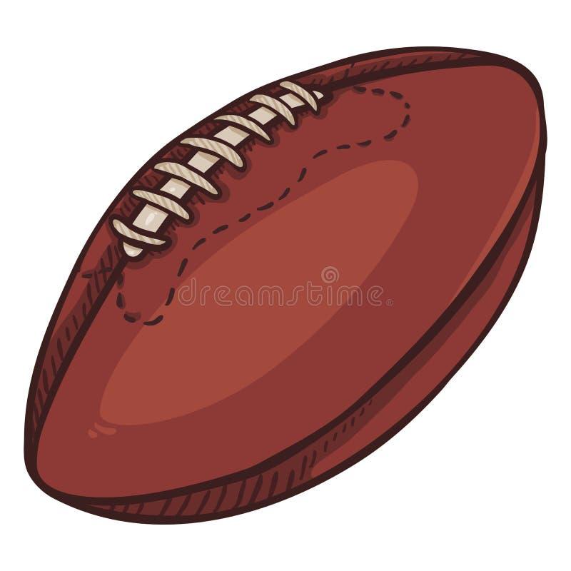 Wektor kreskówki Brown Pojedyncza piłka dla rugby futbol amerykański ilustracja wektor