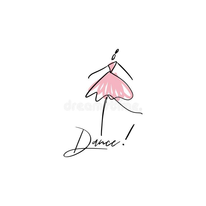 Wektor kreskowa sylwetka elegancka balerina Tancerz ikona royalty ilustracja
