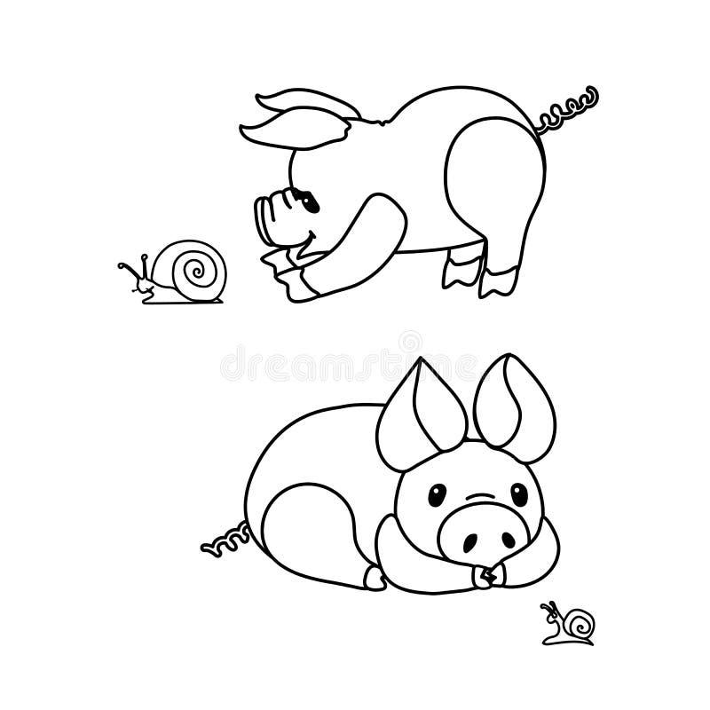 Wektor kreskowej kreskówki klamerki zwierzęca sztuka ilustracji