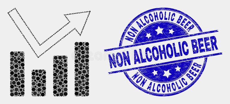 Wektor Kropkująca trend mapy ikony i cierpienia piwa znaczka Non Alkoholiczna foka ilustracji