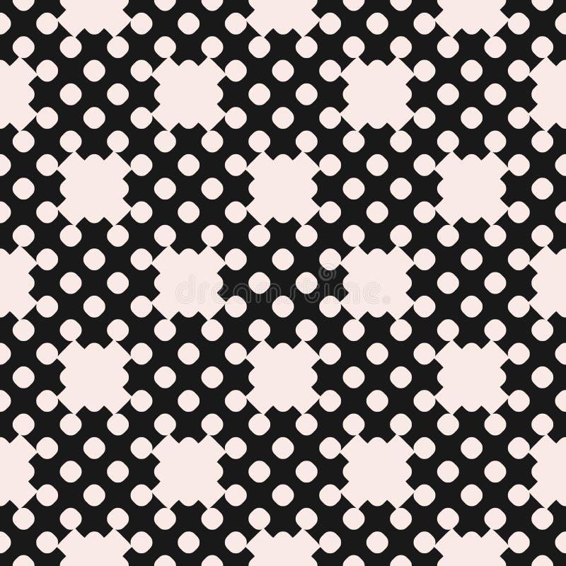 Wektor kropkujący bezszwowy wzór, powtórka monochromu tekstura ilustracja wektor