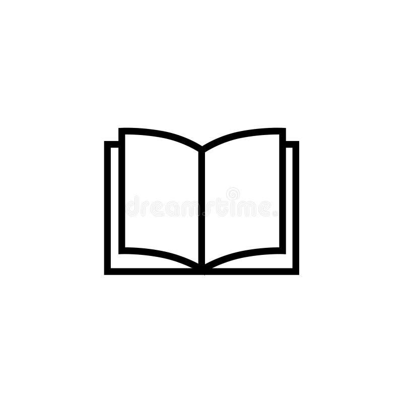 Wektor książkowa ikona Szyldowy projekt royalty ilustracja
