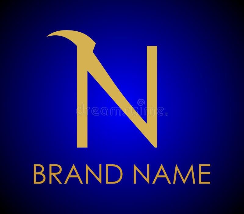 Wektor Listowy N Loga, Firma logo, gatunku logo ilustracji