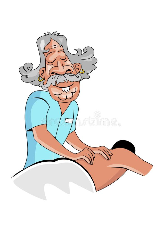 Wektor - ludzie różnego masażu i opieka zdrowotna royalty ilustracja