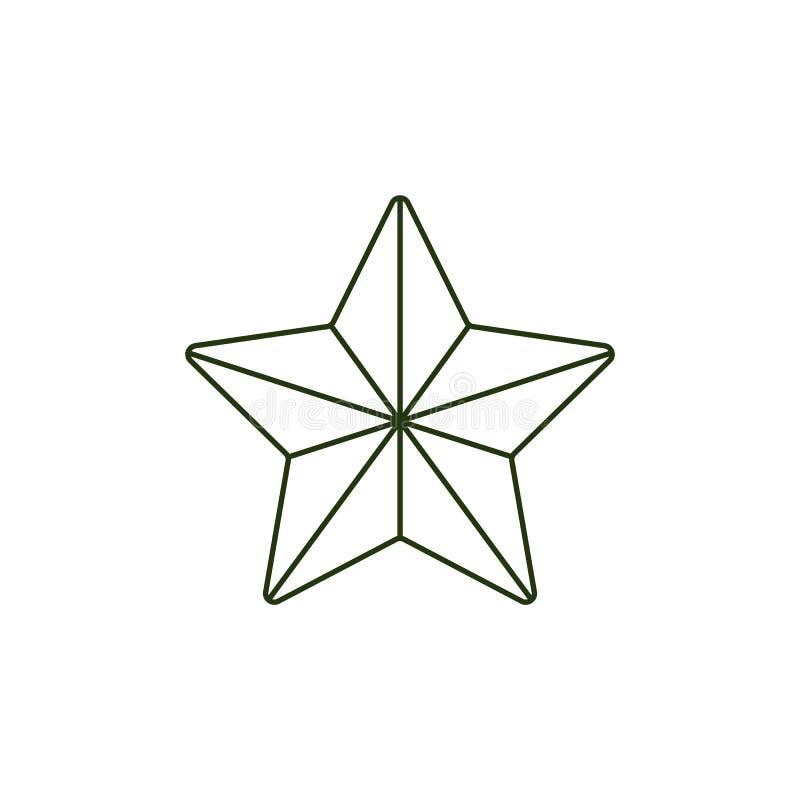 Wektor 23 Luty symbolu wojska wakacyjna gwiazda ilustracja wektor