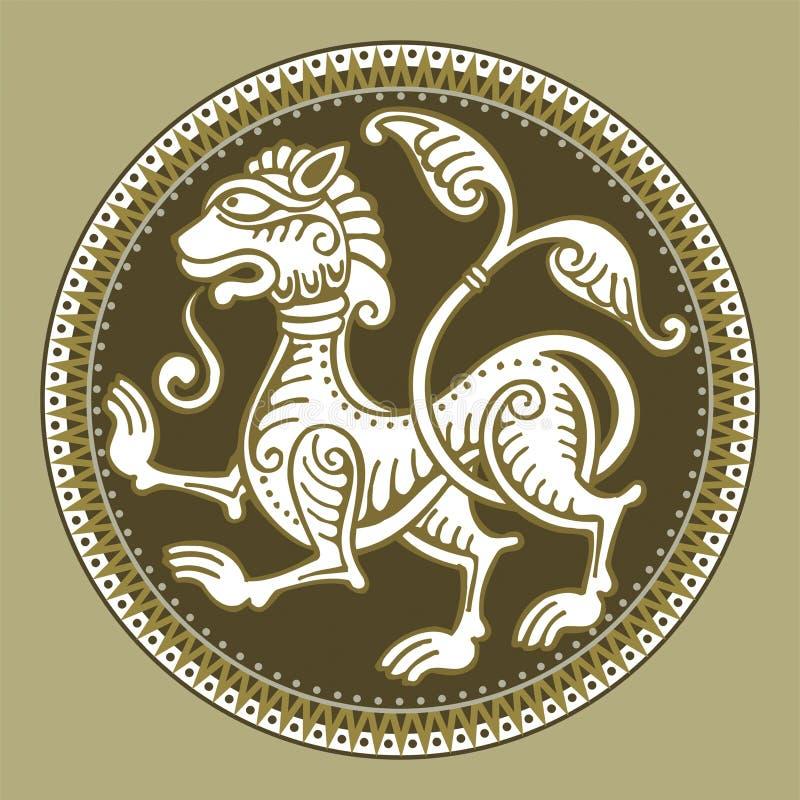 Download Wektor lwa abstrakcyjne ilustracja wektor. Obraz złożonej z remis - 1925102