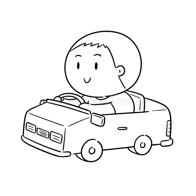 Wektor mężczyzny napędowy samochód royalty ilustracja