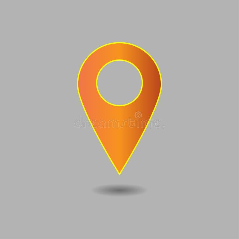 Wektor mapa pointeru ikona GPS lokaci symbol Płaski projekta sty royalty ilustracja