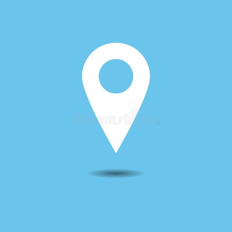 Wektor mapa pointeru ikony set GPS lokaci symbol Płaski projekt royalty ilustracja