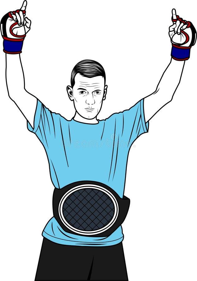 Wektor - MMA wojownik ilustracja wektor
