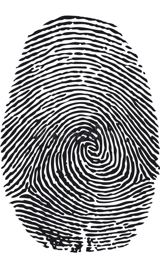wektor odcisków palców ilustracja wektor