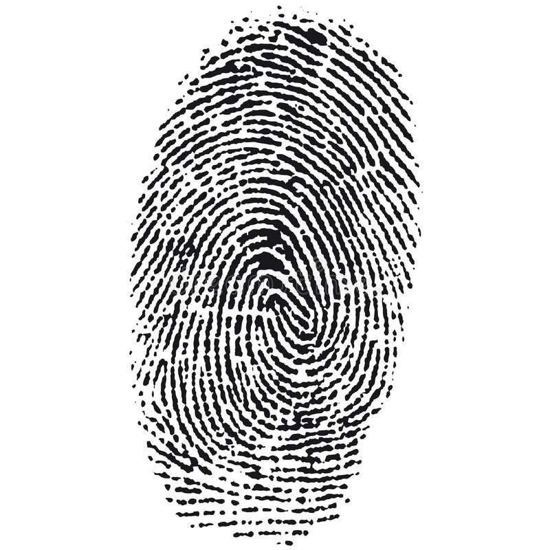 wektor odcisków palców royalty ilustracja