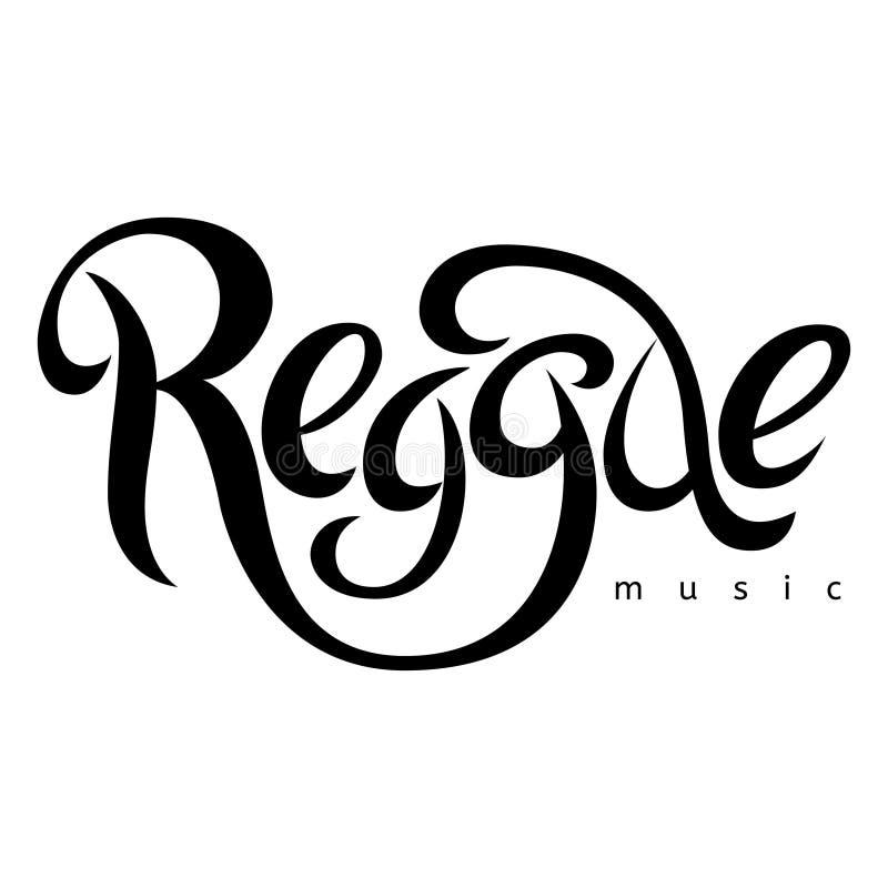 Wektor odizolowywający piszący list plakat w reggae projektować royalty ilustracja