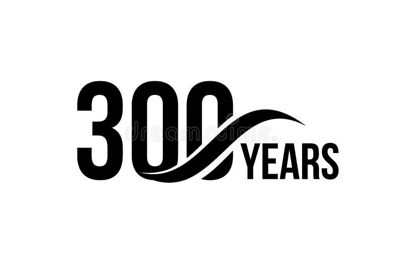 Wektor odizolowywający rocznicy daty loga szablon dla biznesowej firmy ikony projekta urodzinowego elementu Trzysta abstrakt ilustracji