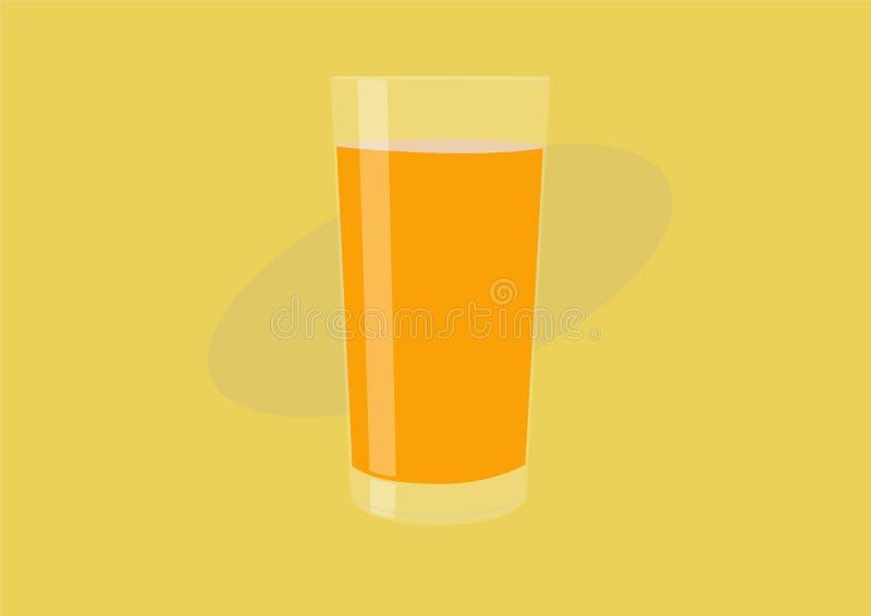 Wektor Odosobniona ilustracja soku pomarańczowego szkło ilustracja wektor