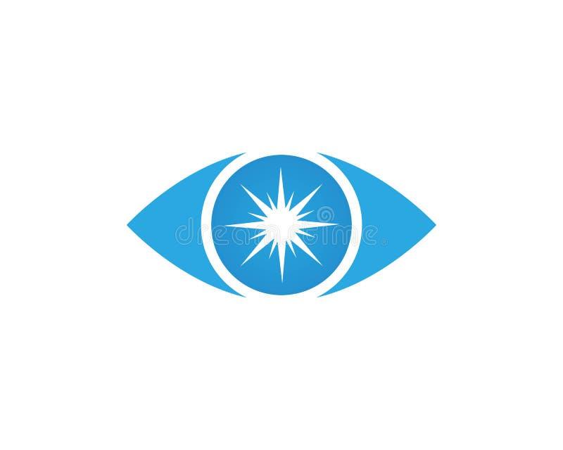 Wektor - oko opieki loga wektor ilustracja wektor