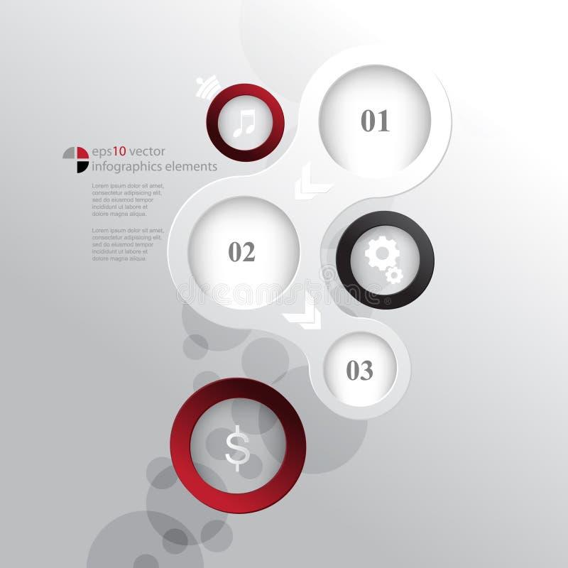 Wektor okrąża elementu infographics pojęcia tło royalty ilustracja