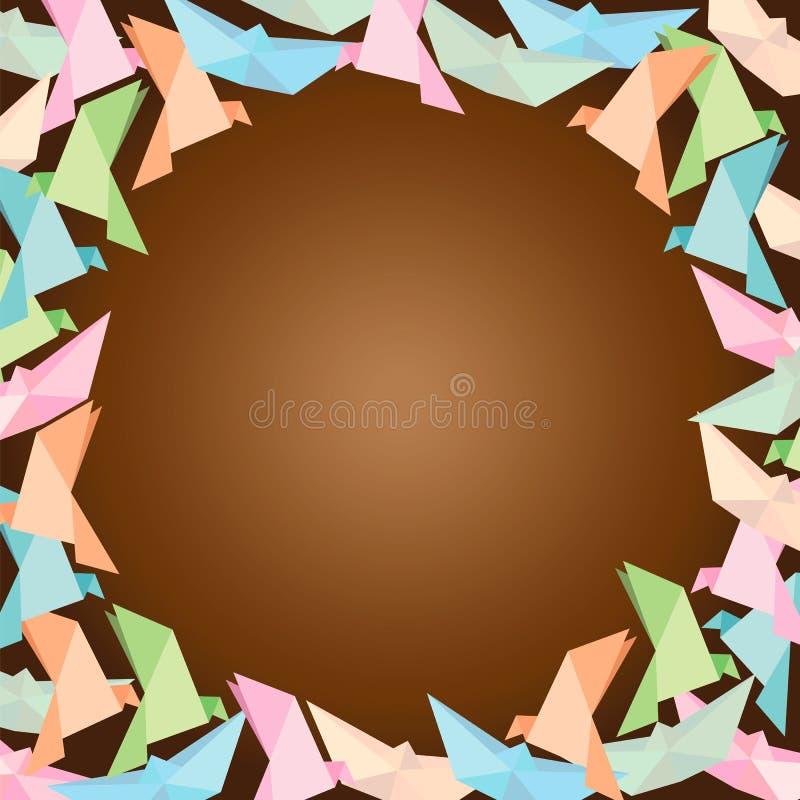 Wektor origami rama, stawia tekst w pustej przestrzeni obrazy royalty free