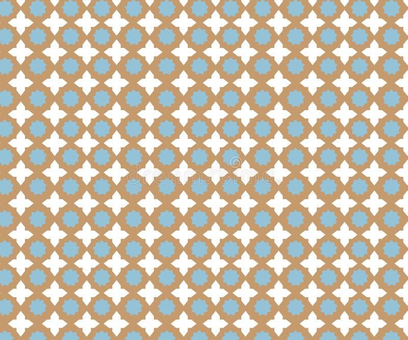 Wektor płytki wzór, Lisbon kwiecista mozaika, Śródziemnomorski bezszwowy marynarki wojennej błękita ornament royalty ilustracja
