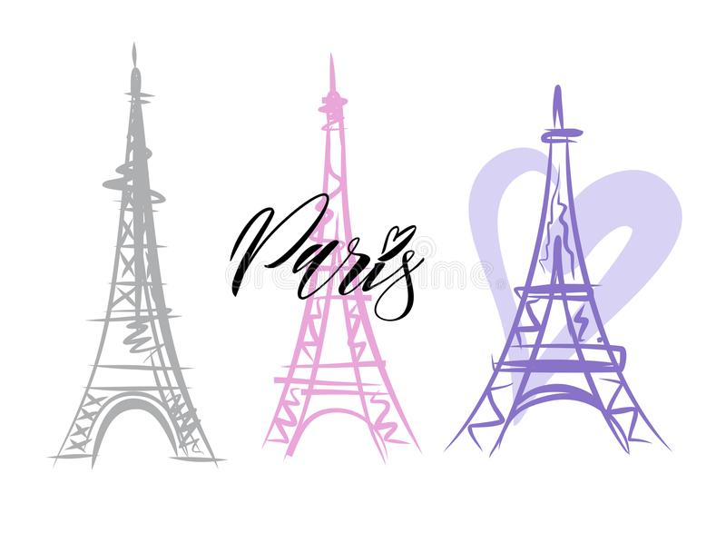 Wektor Paryska wieża eifla ilustracji