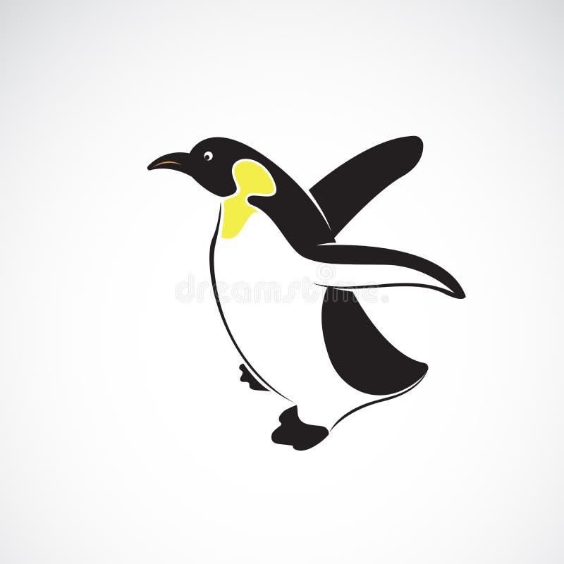 Wektor pingwinu projekt na białym tle , Biegunowy Ptasia Ikona Łatwa editable płatowata wektorowa ilustracja ilustracja wektor