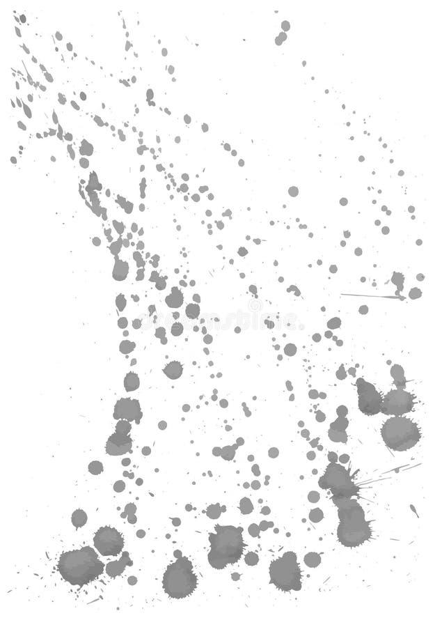Wektor plamy, kleksy, pluśnięcia Ustawiający atramentów splats ilustracja wektor