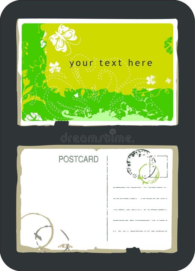 wektor pocztówkowy rocznik royalty ilustracja
