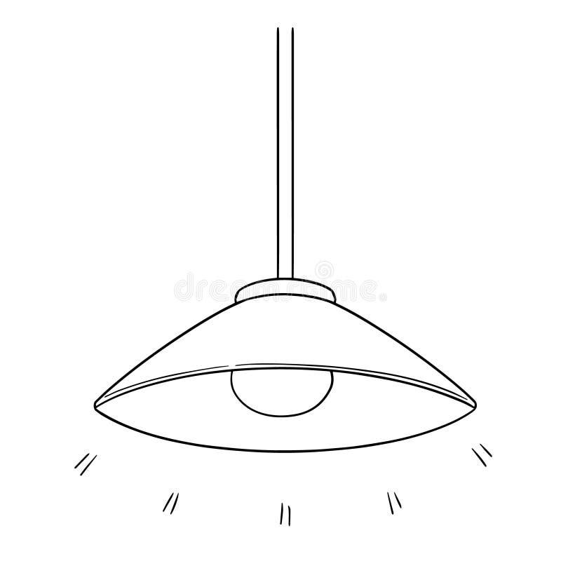 Wektor podsufitowa lampa ilustracja wektor