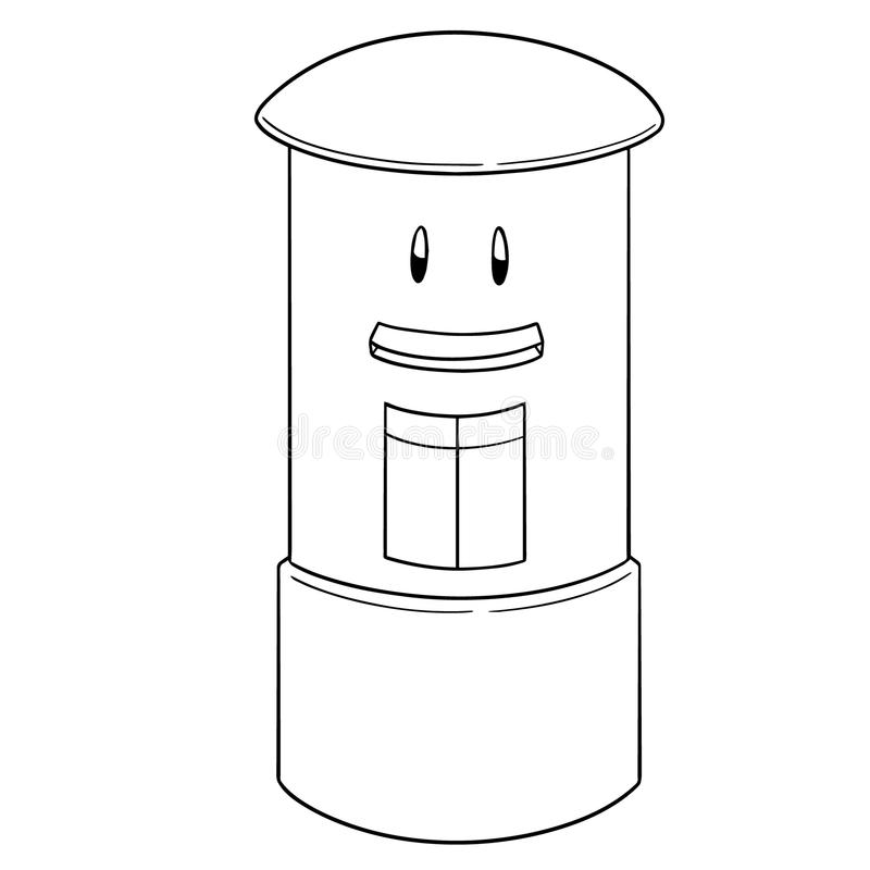Wektor postbox kreskówka ilustracja wektor