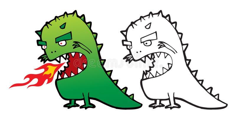 wektor potwora komiks. ilustracja wektor