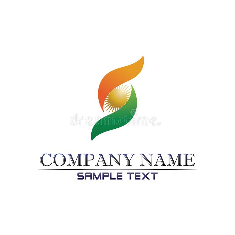 Wektor projektowy logo Business Corporate Letter S ilustracji