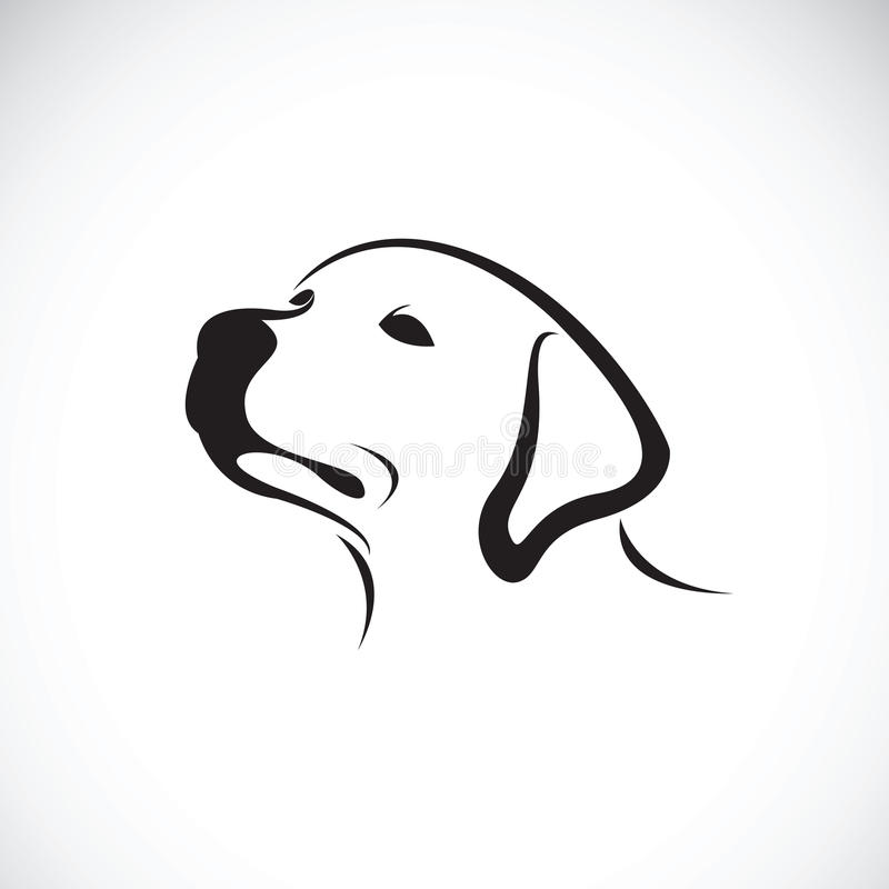 Wektor psi headLabrador aporter na białym tle pet royalty ilustracja