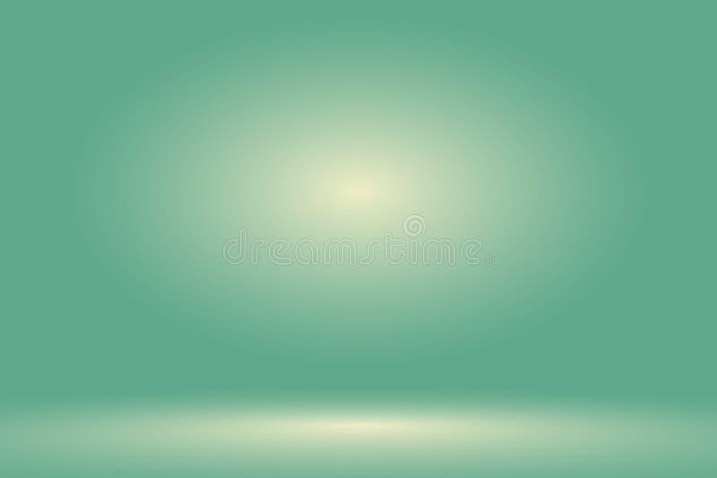 Wektor: Pustej pastel zieleni pracowniany izbowy tło, szablonu egzamin próbny up dla pokazu produkt, Biznesowy tło ilustracji