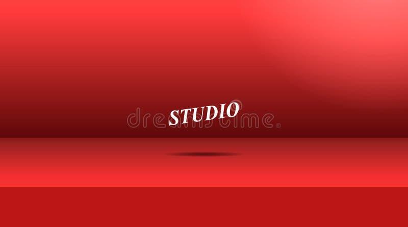 Wektor, Pusty żywy czerwonego koloru studio ilustracja wektor