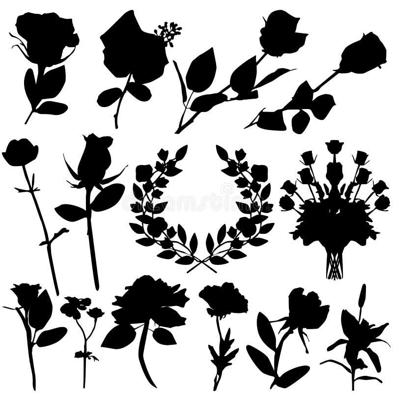 wektor różę walentynki royalty ilustracja