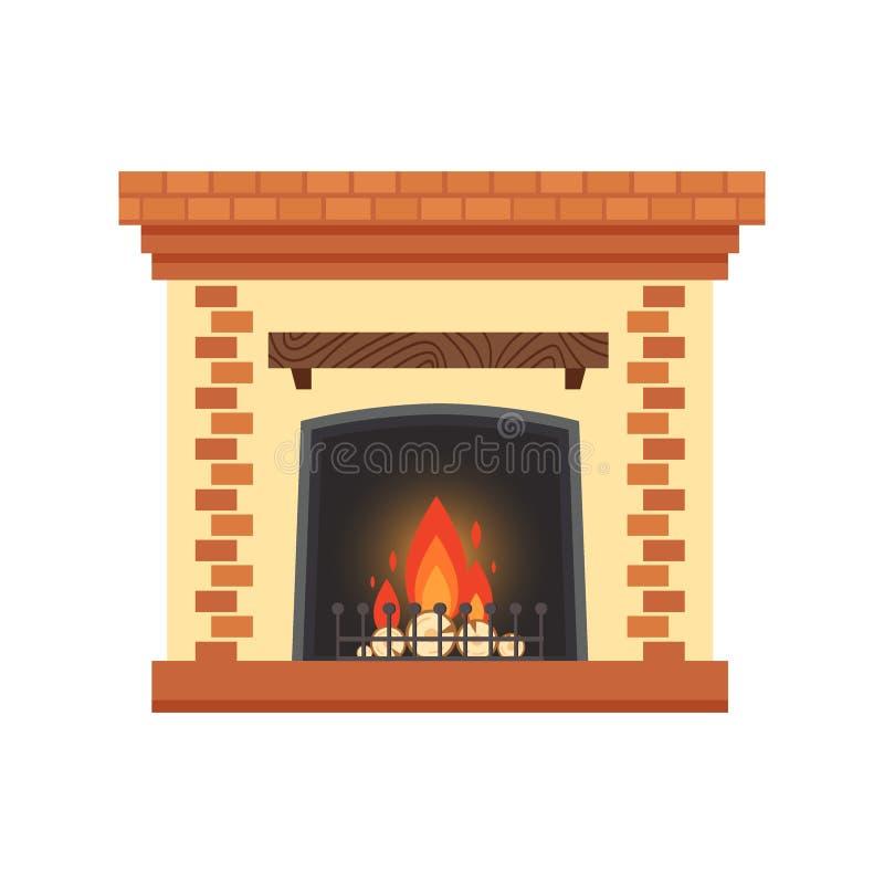 Wektor różna kolorowa domowa graba z ogieniem i łupka odizolowywająca na białym tle Projektów elementy dla pokoju ilustracja wektor