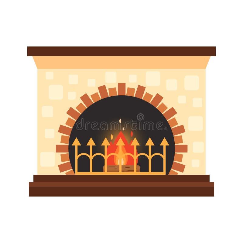 Wektor różna kolorowa domowa graba z ogieniem i łupka odizolowywająca na białym tle Projektów elementy dla pokoju ilustracji
