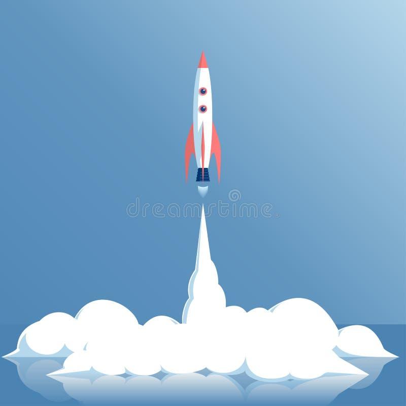 Wektor rakiety wodowanie ilustracja wektor