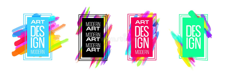 Wektor rama dla tekst sztuki współczesnej grafika dla modnisiów ilustracji