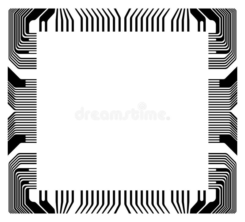 Download Wektor Rama Z Czerepu Mikroukładem Ilustracja Wektor - Ilustracja złożonej z chip, system: 53789175