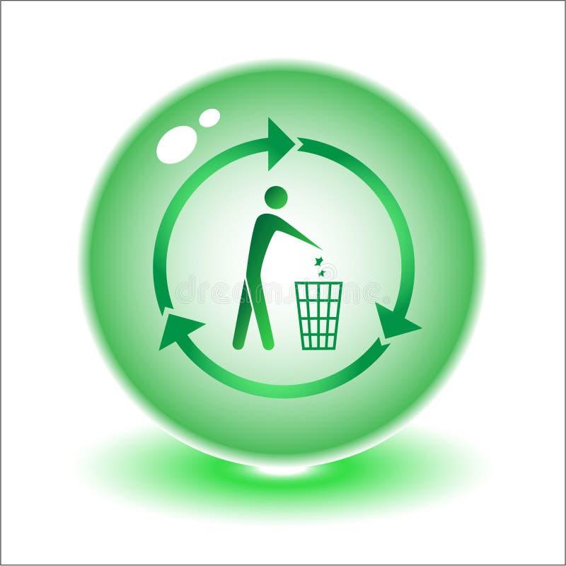 wektor recyklingu bin ilustracji