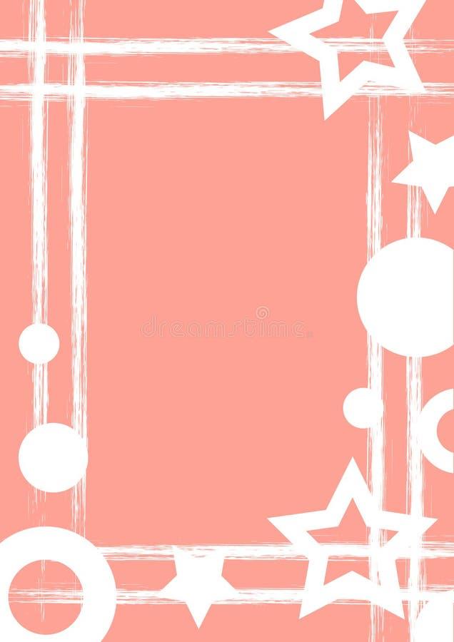 Wektor rysujący geometryczny tło z geometrical postaciami, rama, rabatowy Grunge szablon z gwiazdami, okręgi, kropkuje Starego st royalty ilustracja