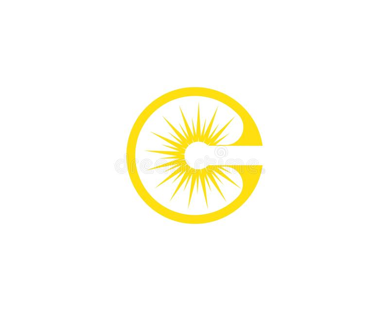 Wektor - słońce wybuchu gwiazdy ikona royalty ilustracja