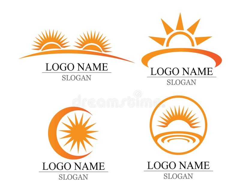Wektor - słońce wybuchu gwiazdy ikony symbole i logo royalty ilustracja