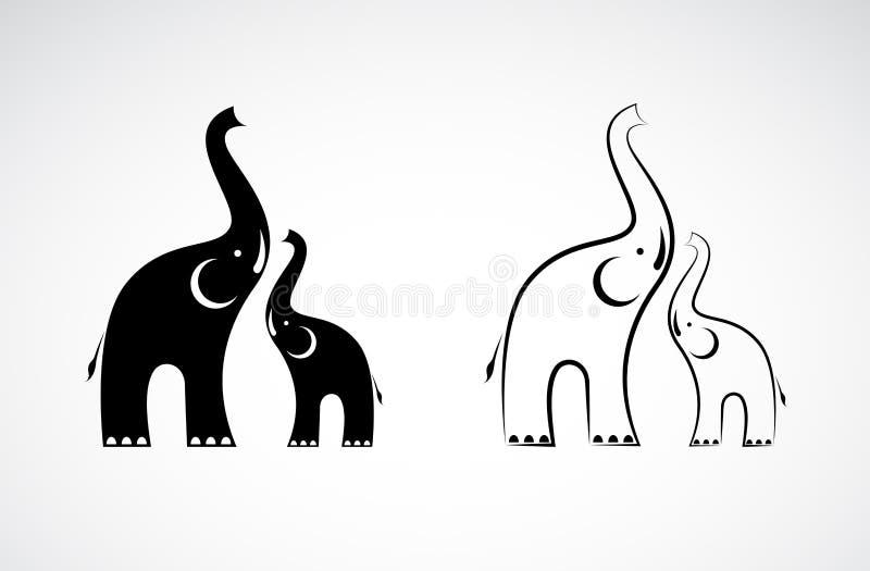Wektor słonia projekt na białym tle, dzikie zwierzęta royalty ilustracja