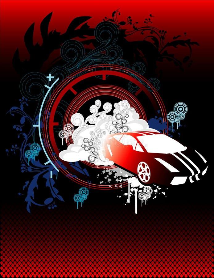 wektor samochodowy abstrakcyjne royalty ilustracja