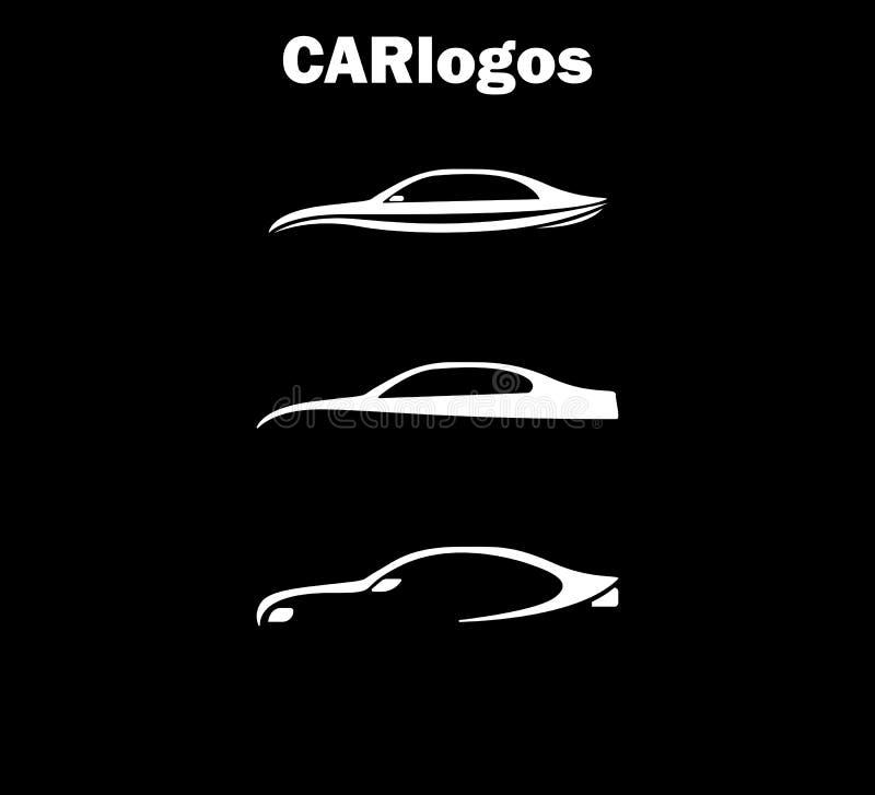 Wektor Samochodowy logo Colellection, Samochodowi logowie royalty ilustracja