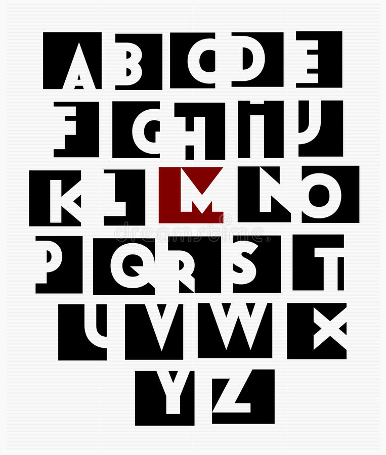 Wektor sans serif kija nakrętki zdjęcia royalty free