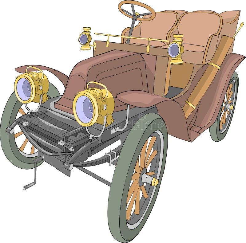 wektor Stary samochodowy kabriolet ilustracji